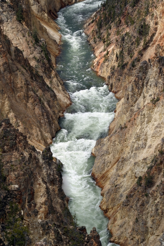 Water And Rock In The Grand Canyon Of Yellowstone