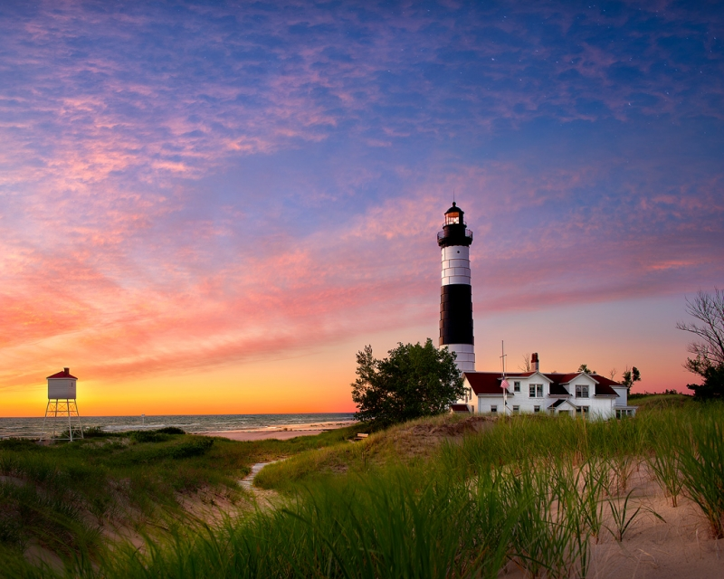 Big Sable Point Lighthouse At Twilight