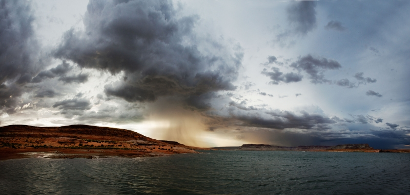 Summer Storm Over Antelope Island