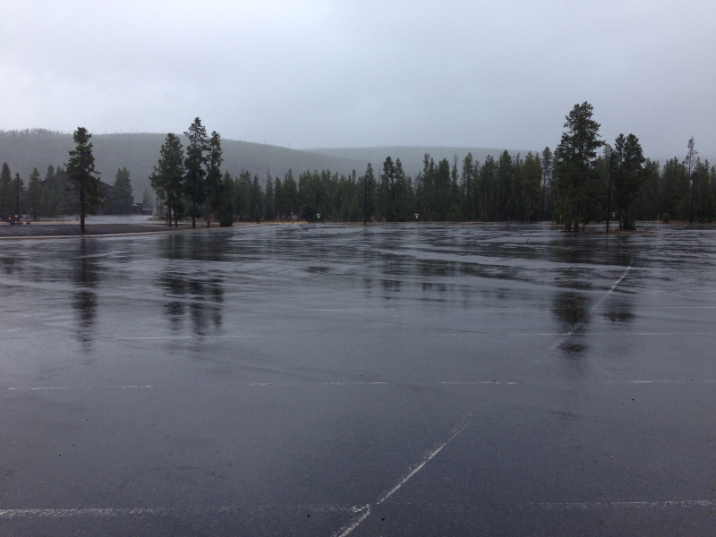 Old Faithful Parking Lot, 9/30/13