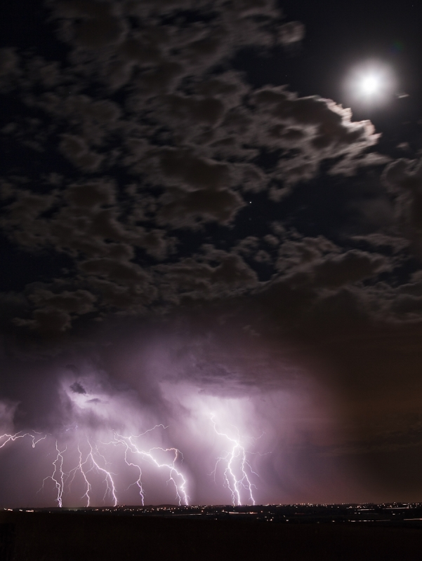 Moon Light Lightning Storm