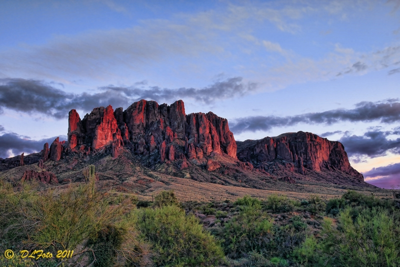 Sunset At Lost Dutchman Sp