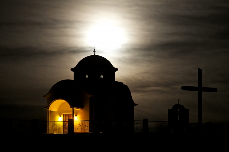 Full Moon Over Prophet Elias Chapel