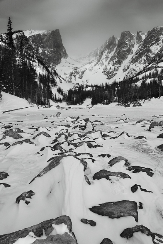 Dream Lake In Winter