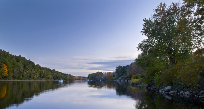 Kennebec River At Dusk
