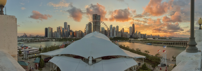 Chicago Navy Pier Sunset