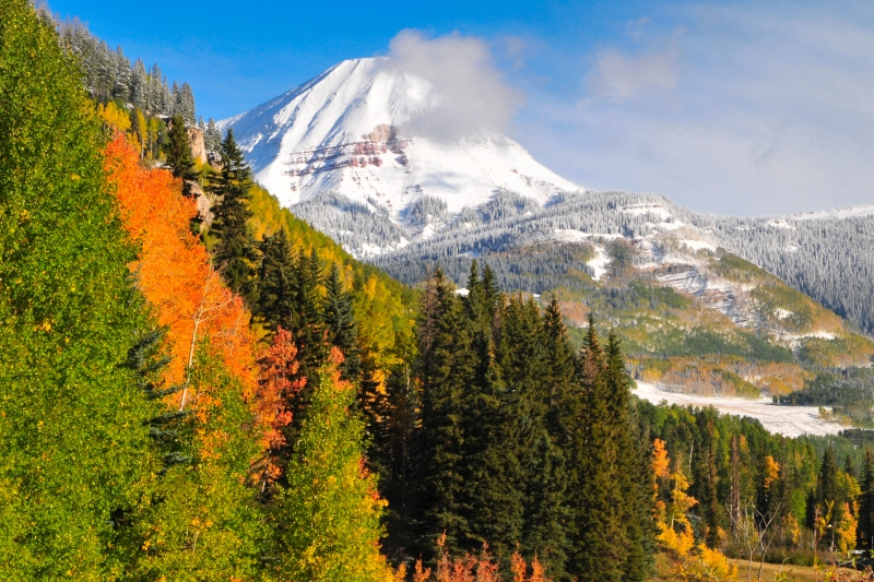 Early Fall Snowfall, Engineer Mountain, Durango