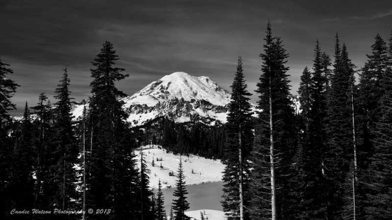 Early Snow On Mount Rainier