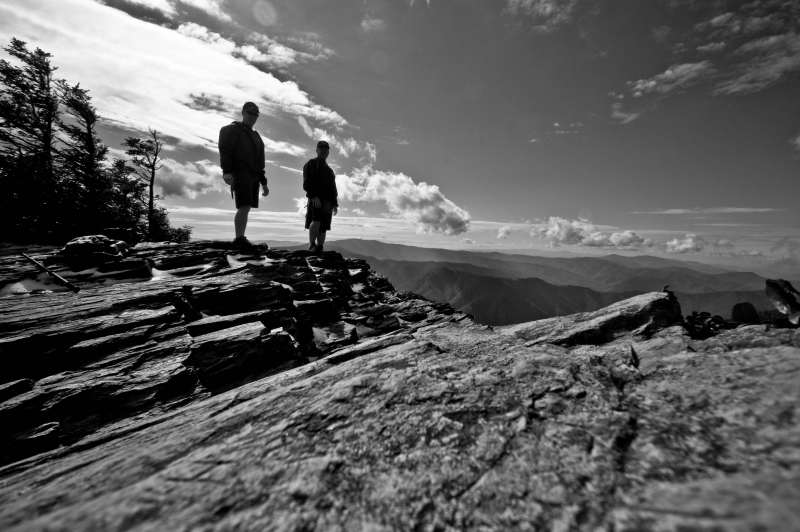 Two Men On Mt. Leconte