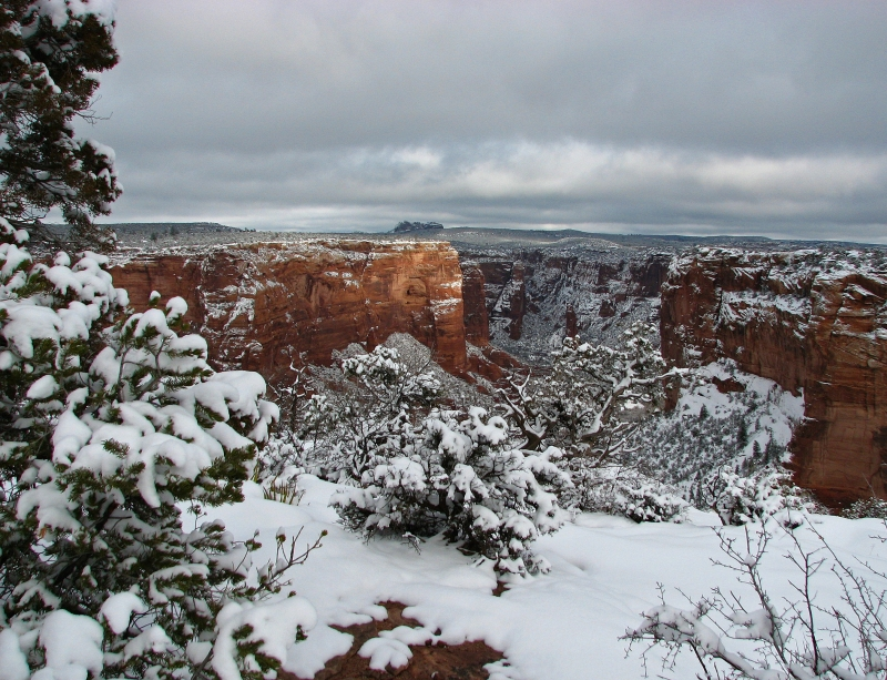 Canyon De Chelly In Winter