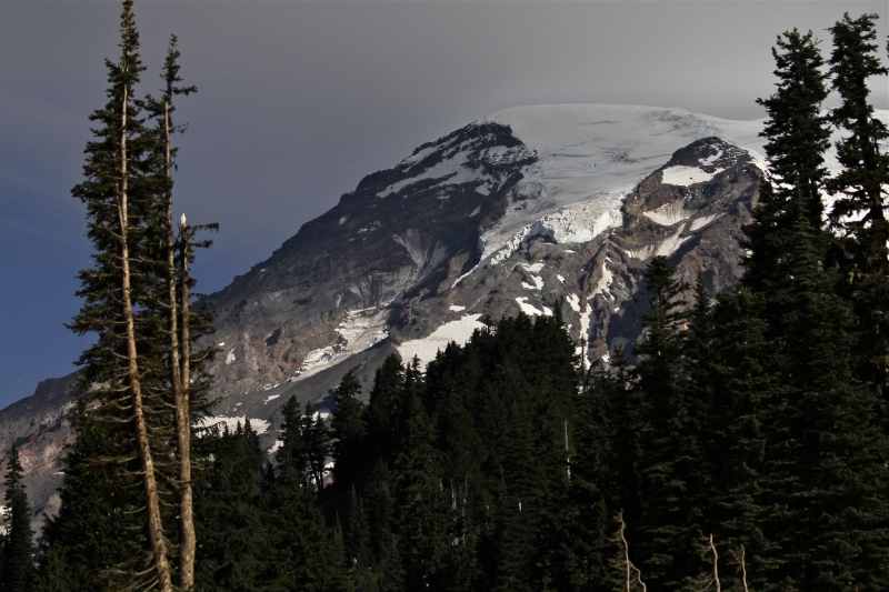 Mount Rainier At Moonrise, October 2013.