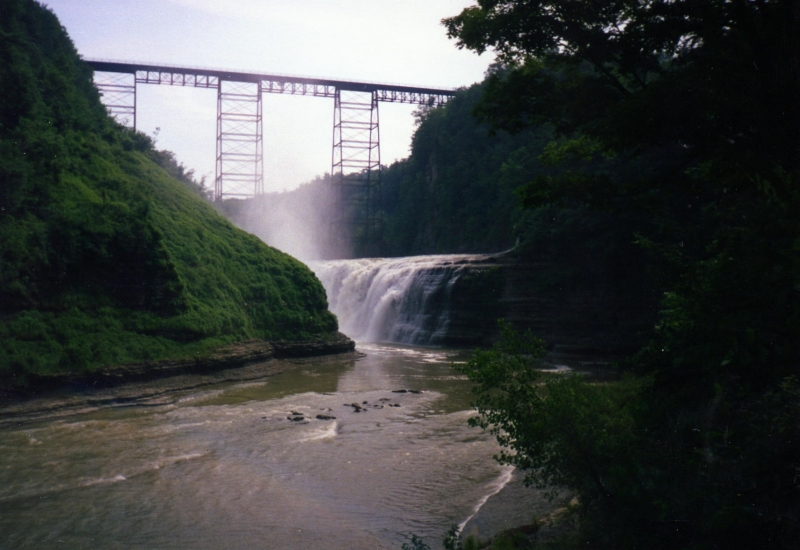 Bridge Over Waterfalls