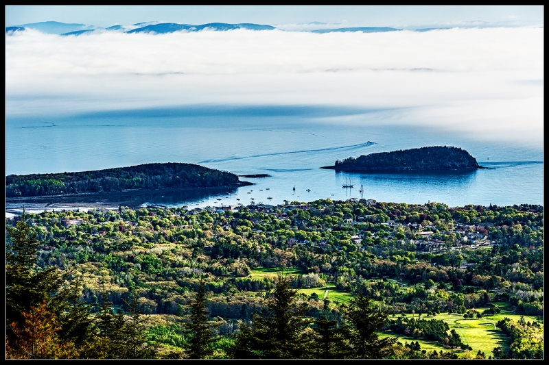 Bar Harbor Fog From Cadillac Mountain – Acadia National Park