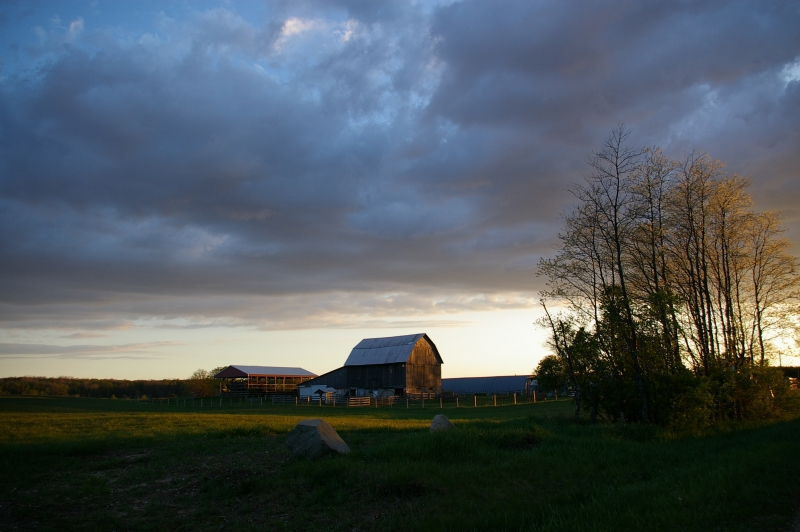 Sun Setting On Northern Michigan Barn
