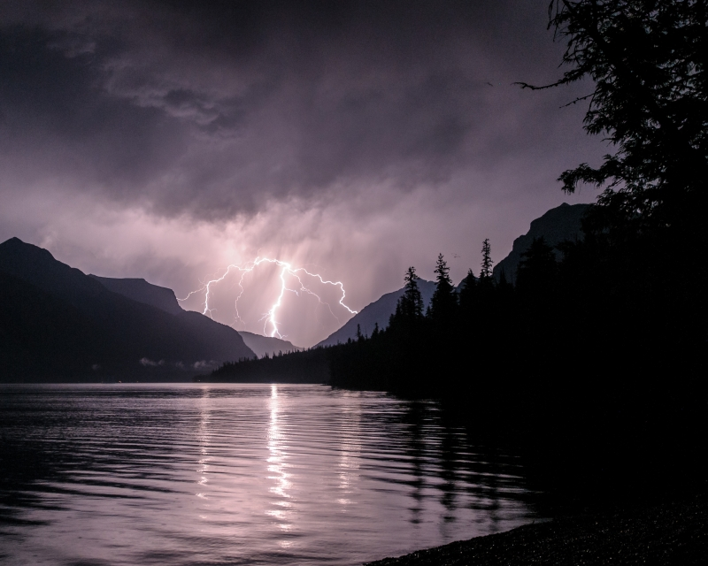 Lake Mcdonald Lightning