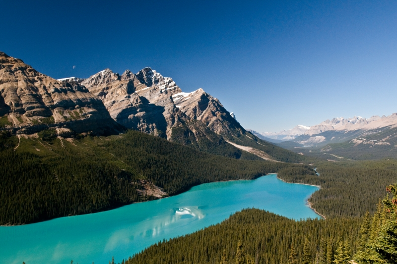 Peyto Lake & Moon