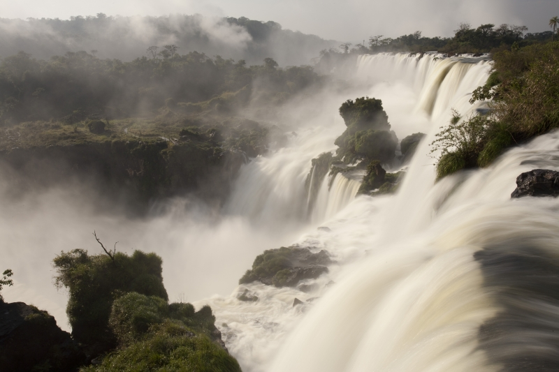 Raging Waters Of Iguazu Falls