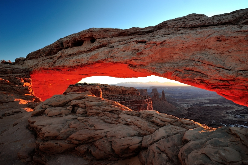 Sunrise Glow At Mesa Arch