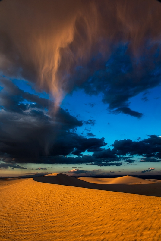 Rain, White Sands National Monument, New Mexico