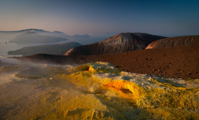 Sunset On Vulcano, Italy