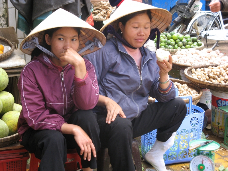 Outdoor Market In Dalat, Viet Nam