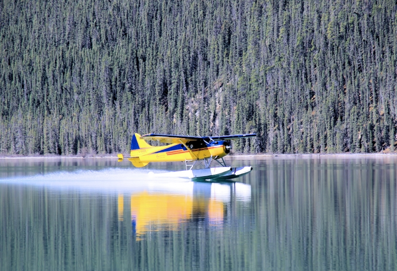 Landing On Lake Muncho
