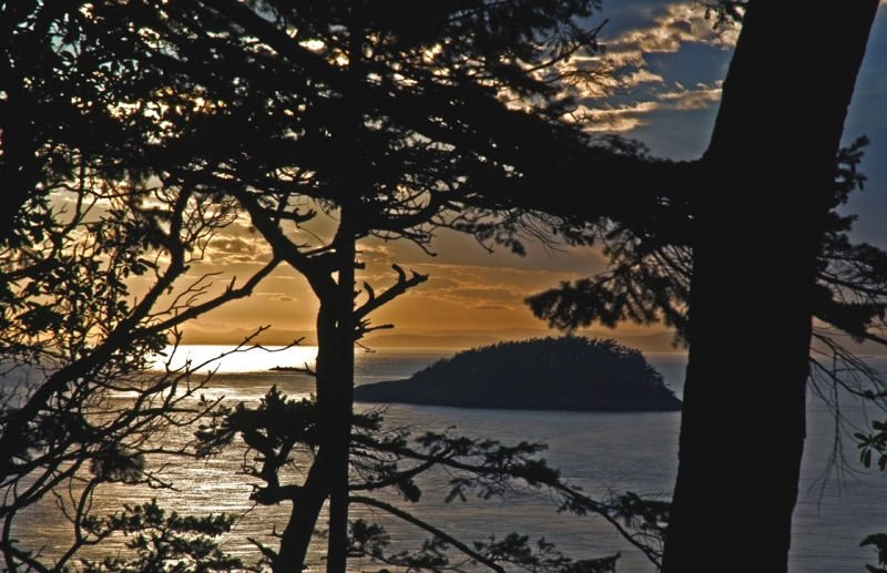 Deception Pass View Sunset
