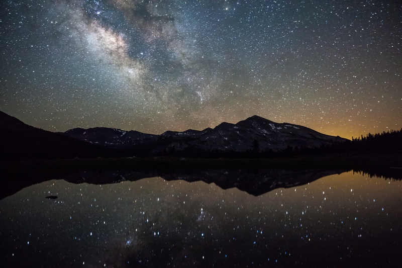 Milky Way Reflection Over Yosemite High Country