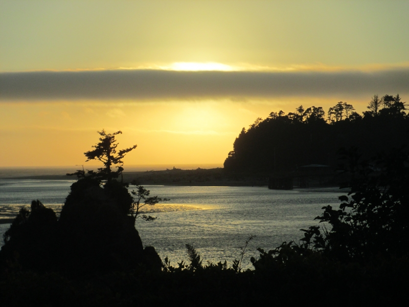 Siletz Bay At Sunset
