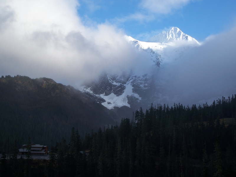 Mt Shuksan Through The Clouds