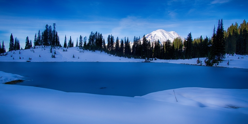 Tipsoo Lake Early Snow