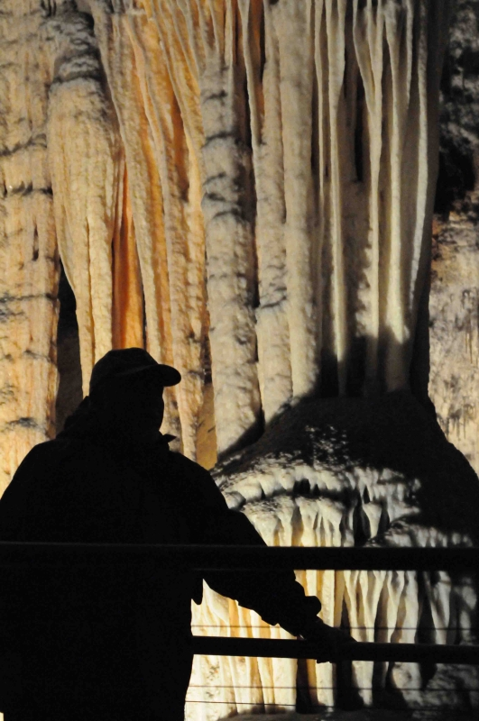 A Tourist In Jenolan Caves Near The Blue Mountains, Nsw