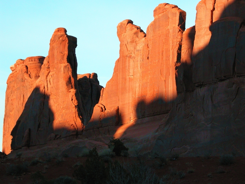 Shadow Of George Washington Among Rock Councilmen In Arches National Park?