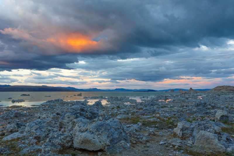 Mono Lake Stormy Sunset
