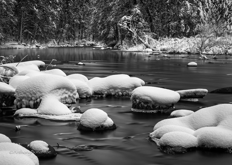 Winter Flow Of The Merced