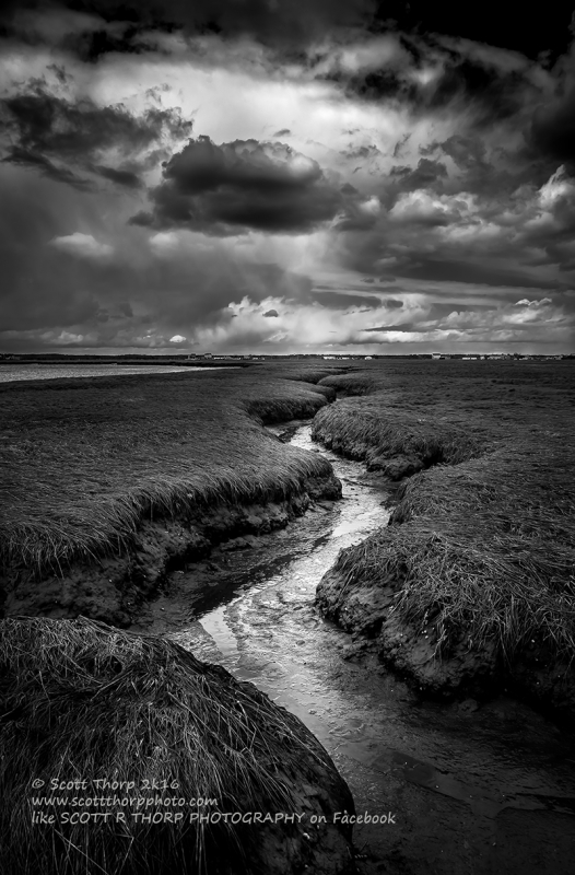 Storm Over The Salt Marshes