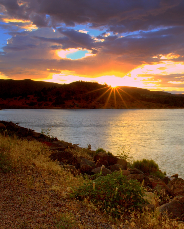 Gunlock Reservoir Sunset