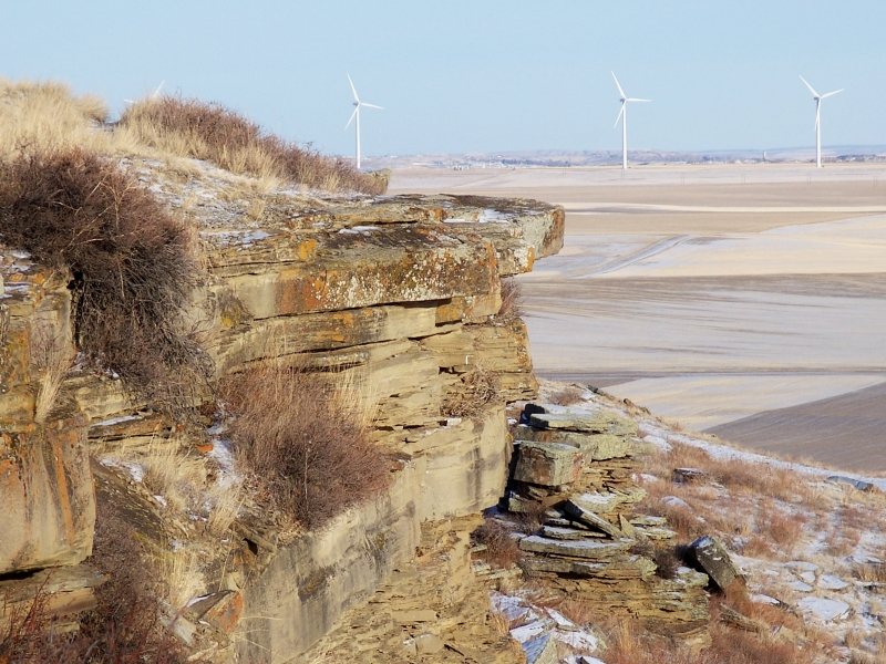 Wind Turbines From Buffalo Jump