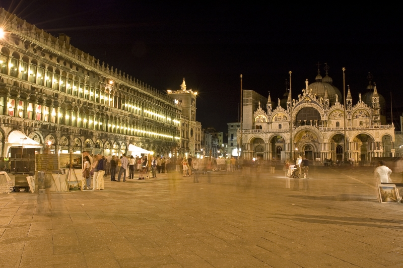 Nighttime At Piazza San Marco
