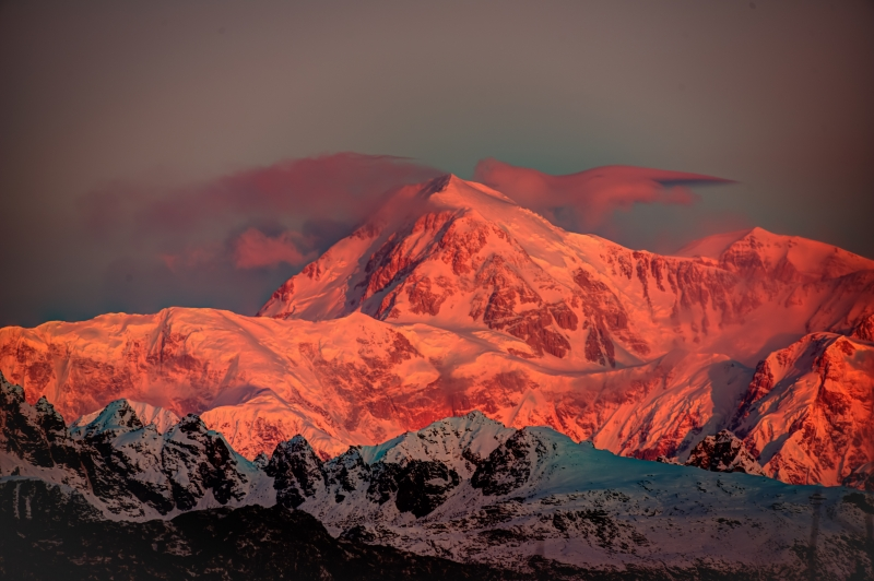 Alpen Glow On Denali