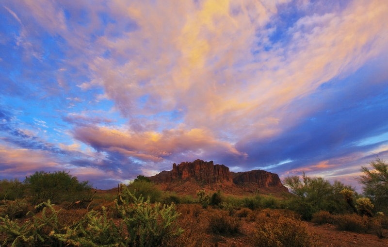 Sunset In The Superstitions