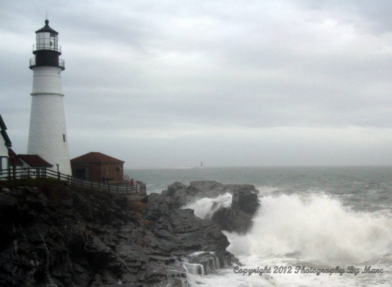 Portland Headlight…day After Hurricane Sandy…october 2012.