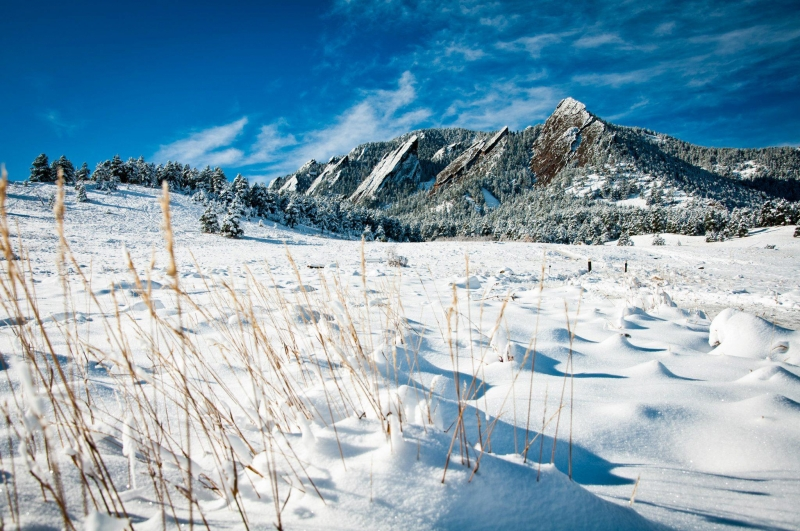 Snow Covered Flatirons