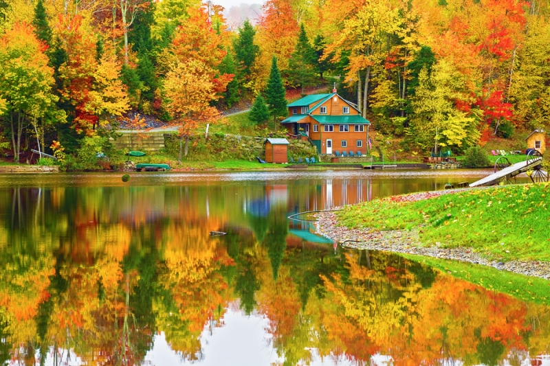 Vermont, Stowe, Montain Mansfield, Foliage, Fall Colors, Landscape, 佛蒙特, 秋色