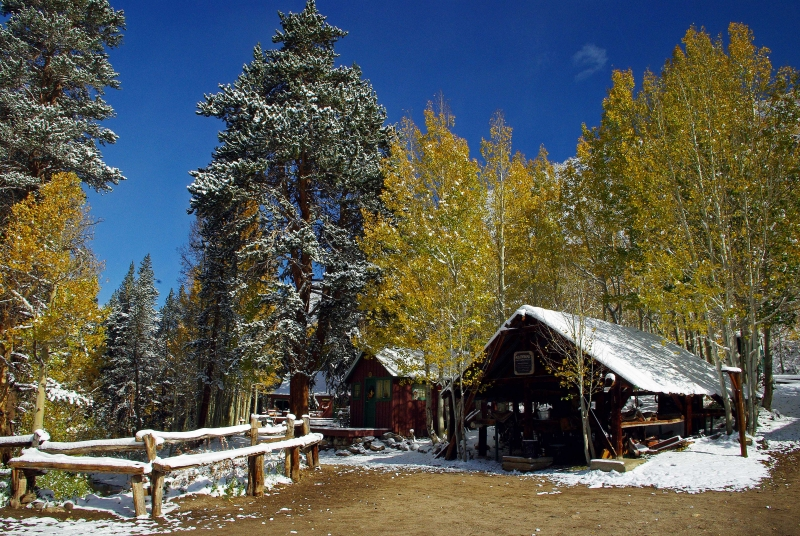 First Snow At The Corrals