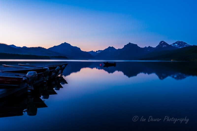Lake Mcdonald By Night