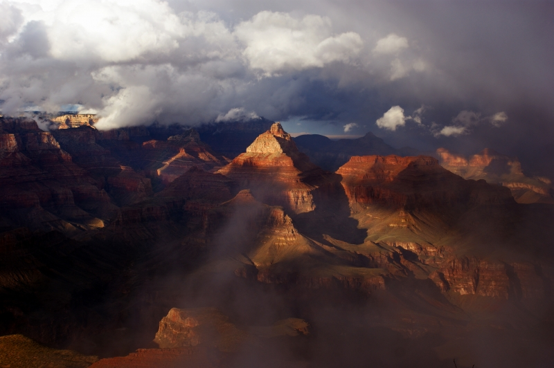 Storm Clouds Over Grand Canyon