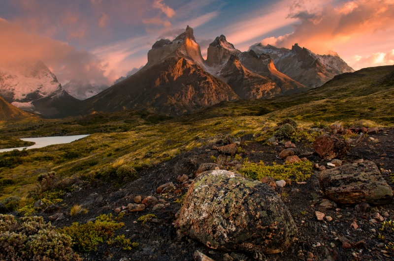 Sunrise Over Torres Del Paine