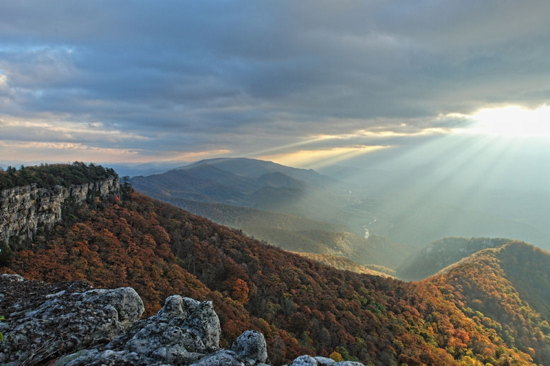 Sunrays On North Fork Mountain