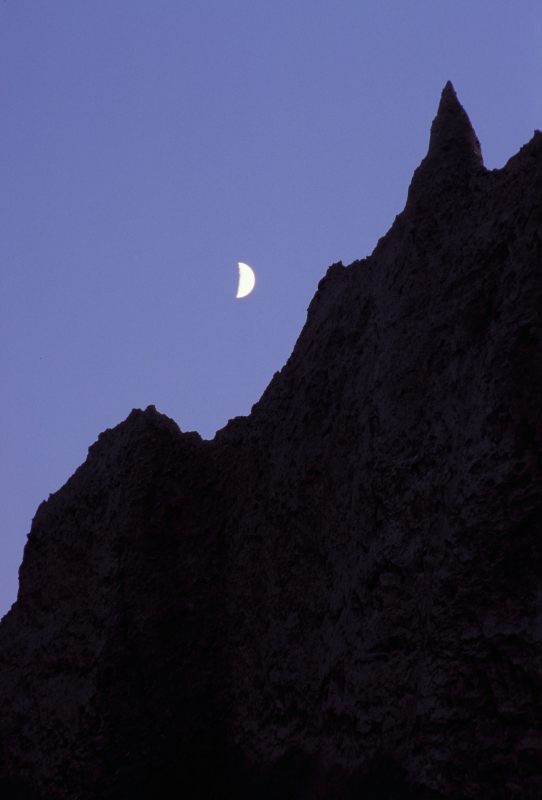 Moon Over Chimney Bluffs